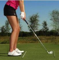 ゴルフスイング動画 下半身を安定させる方法