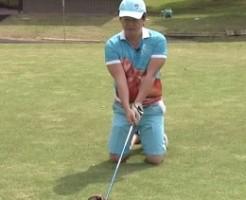 ゴルフ 膝立ちで飛距離が伸びる伸びる!