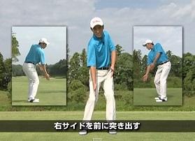 ゴルフスイングにねじりを加える練習法